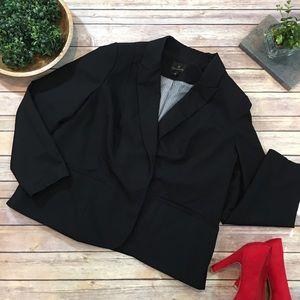 Size 2X Worthington Black Open Front Blazer Jacket